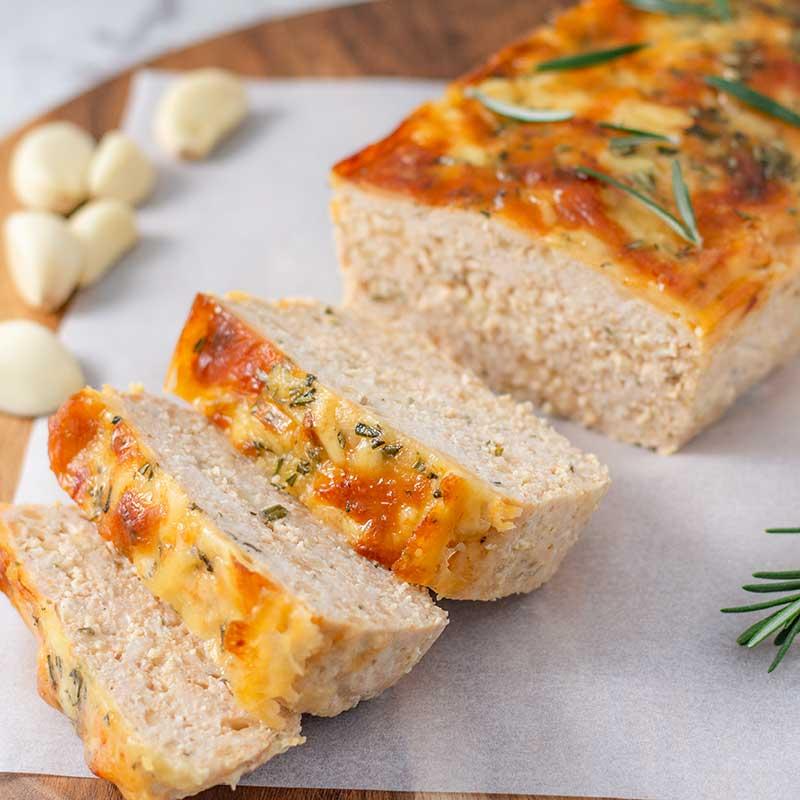 Keto Cheesy Chicken Meatloaf - easy dinner recipe