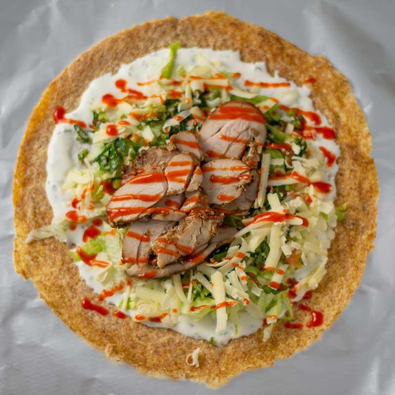 Keto Chicken Doner Kebabs - delicious Turkish wrap recipe