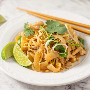 Keto Chicken Pad Thai - delicious stir fried noodles recipe