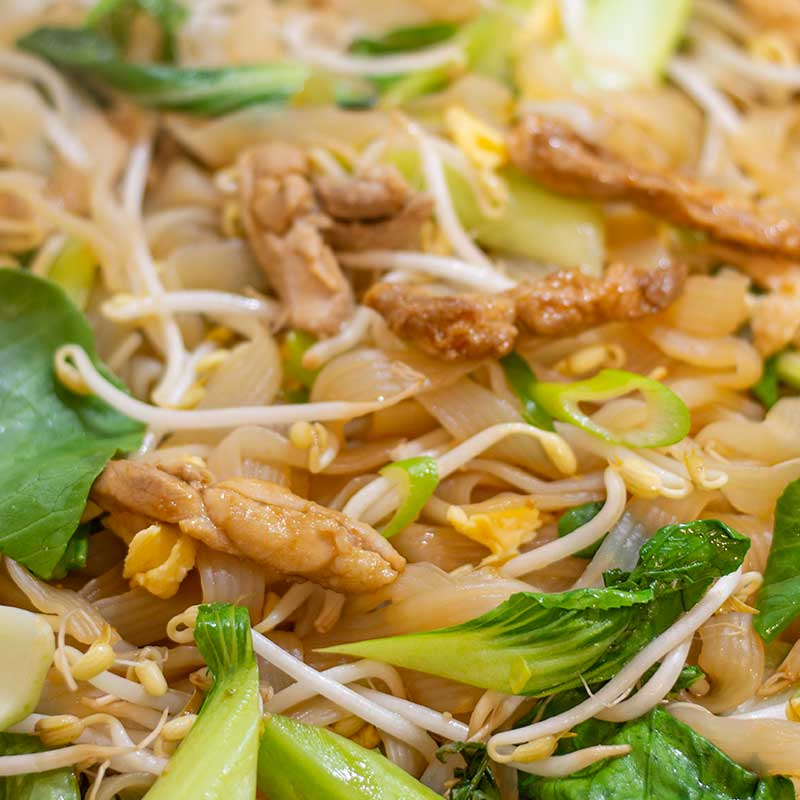 Keto Chicken Pad Thai Ingredients - delicious stir fried noodles recipe
