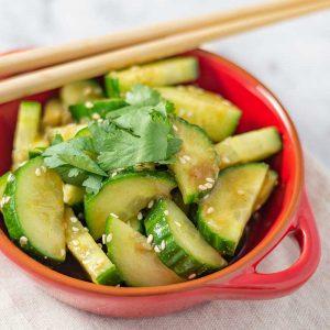 Keto Chinese Cucumber Salad - easy side dish recipe
