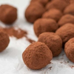 Keto Chocolate Truffles - easy melt and mix chocolate candy recipe