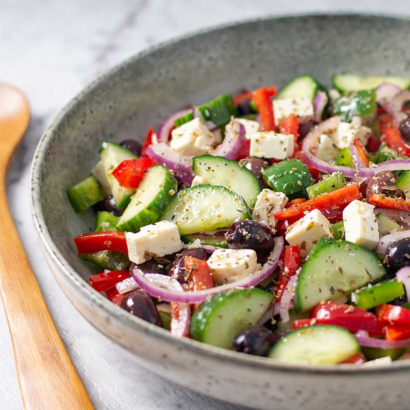 Keto Greek Salad - easy low carb salad recipe
