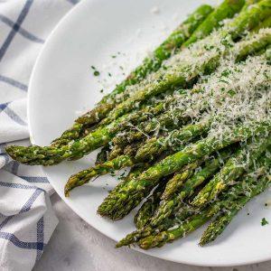 Keto Roasted Asparagus - easy side dish recipe