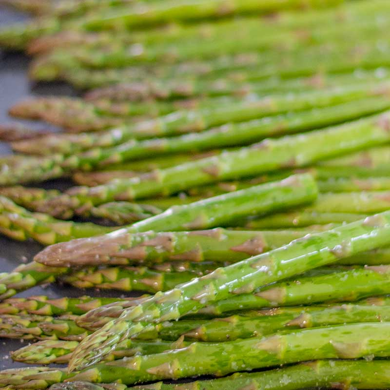 Keto Roasted Asparagus Ingredients - easy side dish recipe