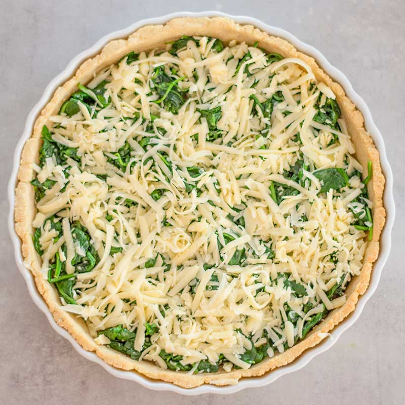 Keto Spinach Quiche Ingredients - easy vegetarian recipe