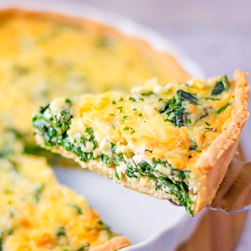 Keto Spinach Quiche Recipe