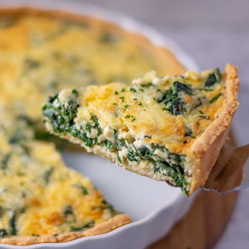 Keto Spinach Quiche - easy vegetarian recipe