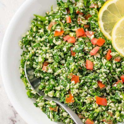 Keto Tabbouleh Salad – EASY Low Carb Tabouli Recipe