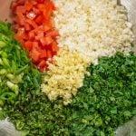 Keto Tabbouleh Salad Ingredients - easy Lebanese salad recipe