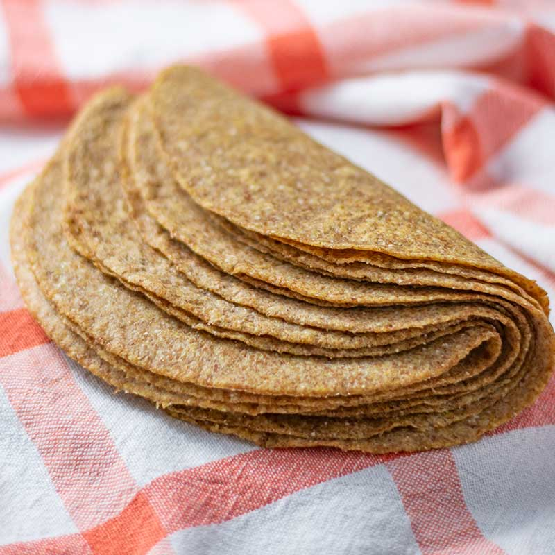 Keto Tortilla Wraps - easy flatbread recipe