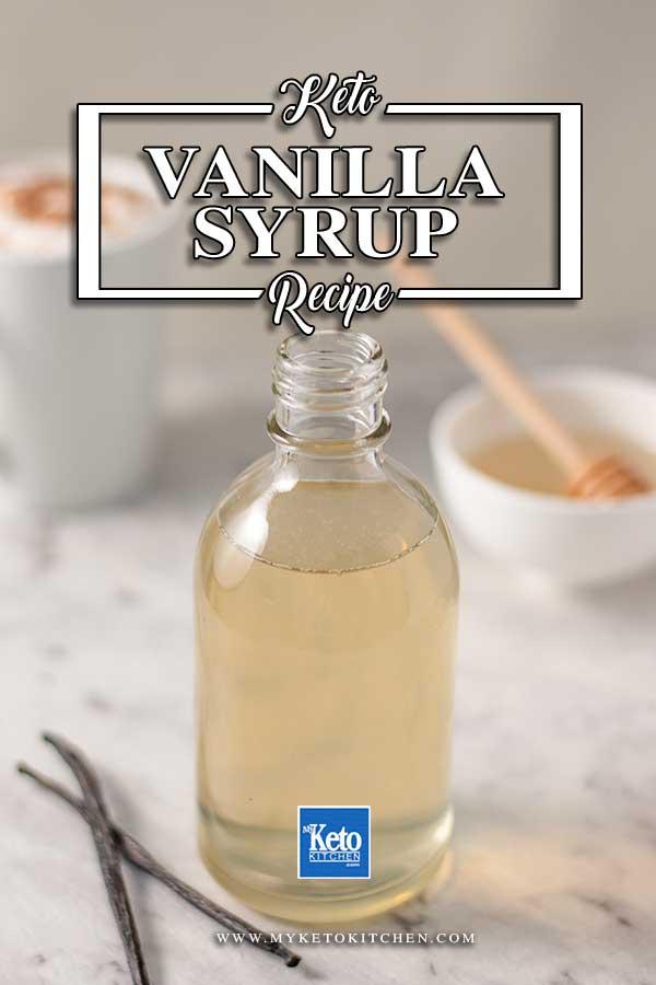 Keto Vanilla Syrup - easy sugar-free recipe