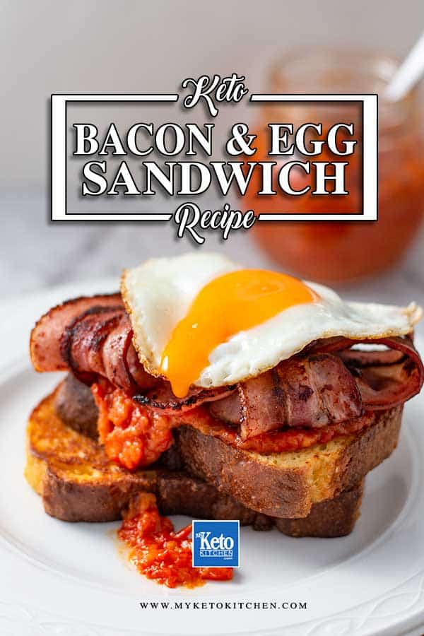 Low Carb Egg & Bacon Sandwich - easy breakfast recipe