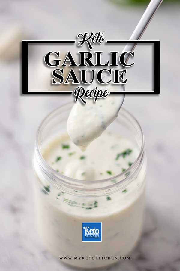 Low Carb Lebanese Garlic Sauce - easy Lebanese condiment recipe