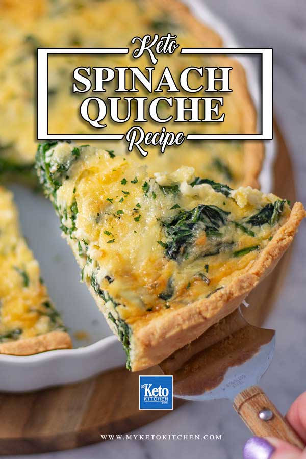 Low Carb Spinach Quiche Recipe - easy vegetarian dish