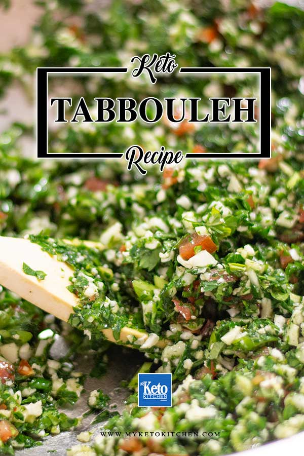 Low Carb Tabouli Salad - easy Lebanese salad recipe