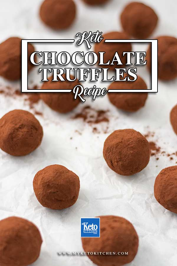 Sugar Free Chocolate Truffles - easy melt and mix keto chocolate candy recipe