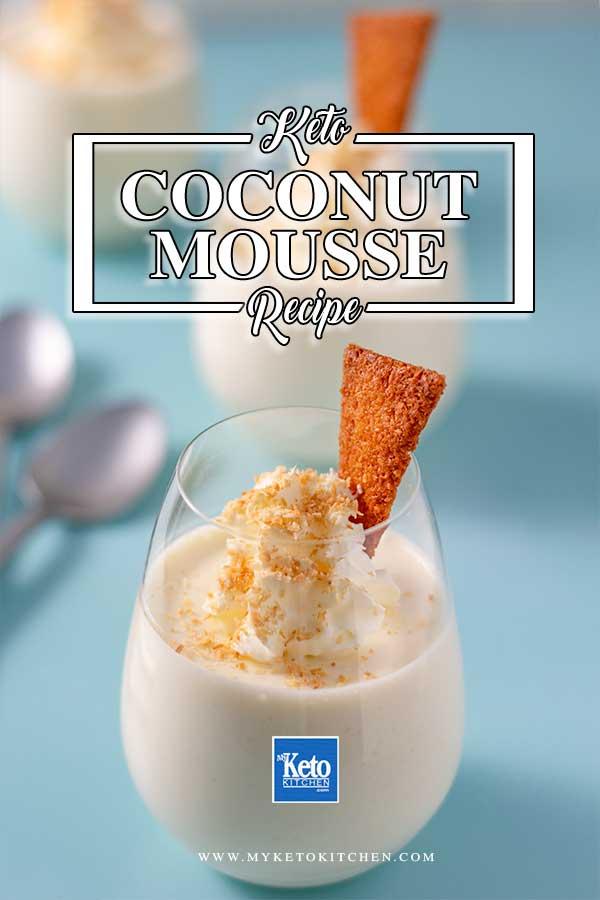 Sugar-Free Coconut Mousse - easy keto dessert recipe