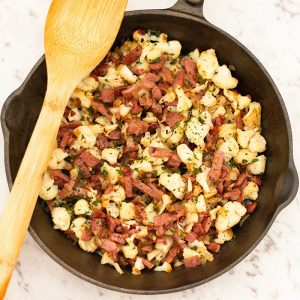 How to make Keto Corned Beef Hash - easy low carb breakfast recipe