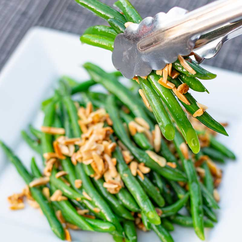 How to make Keto Garlic Green Beans - easy side dish recipe