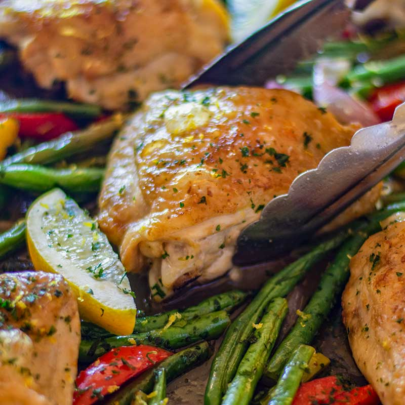 How to make Keto Sheet Pan Chicken and Vegetables - easy recipe