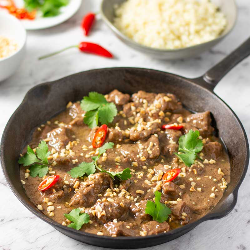Keto Beef Panang Curry - easy Thai curry recipe