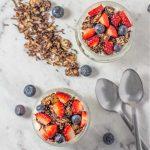 Keto Breakfast Parfait - delicious yogurt and berry recipe