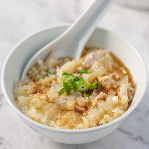 Keto Chicken Congee - Chinese rice porridge recipe