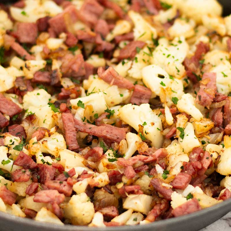 Keto Corned Beef Hash - easy low carb breakfast recipe