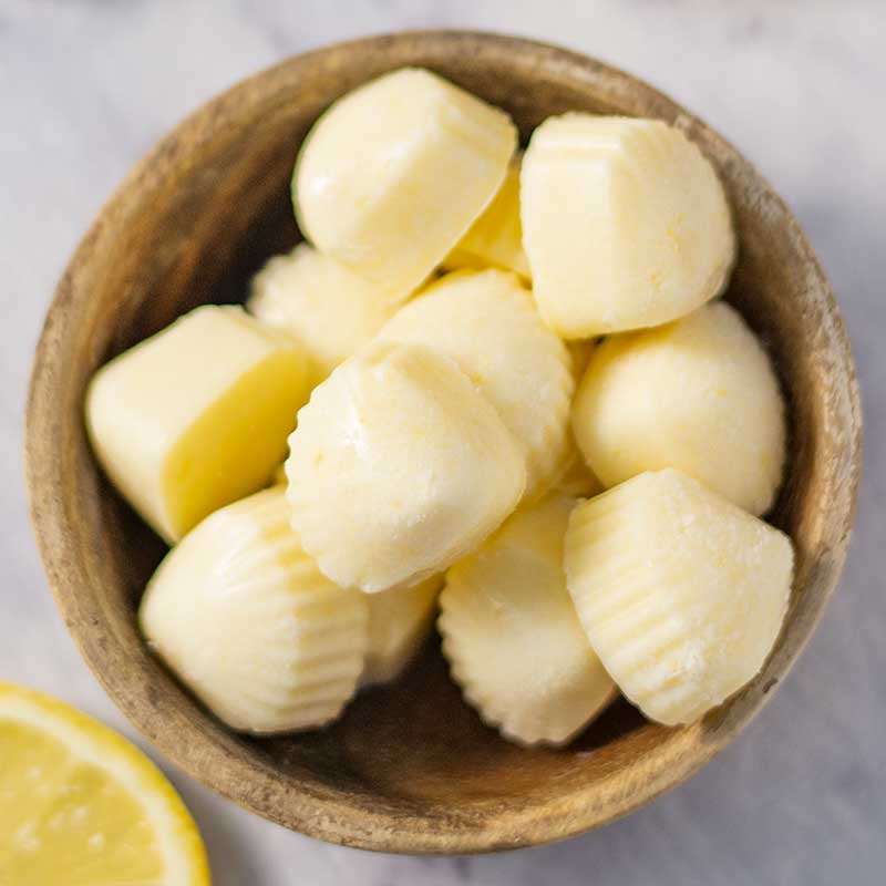 Keto Lemon Fat Bombs - sugar free snack recipe