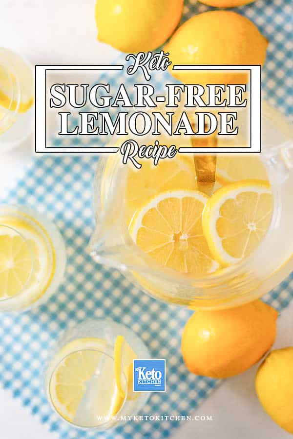 Keto Lemonade - easy sugar-free drink recipe