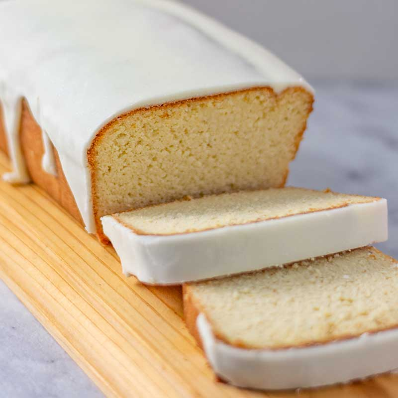 Keto Vanilla Pound Cake - gluten free and sugar free cake recipe
