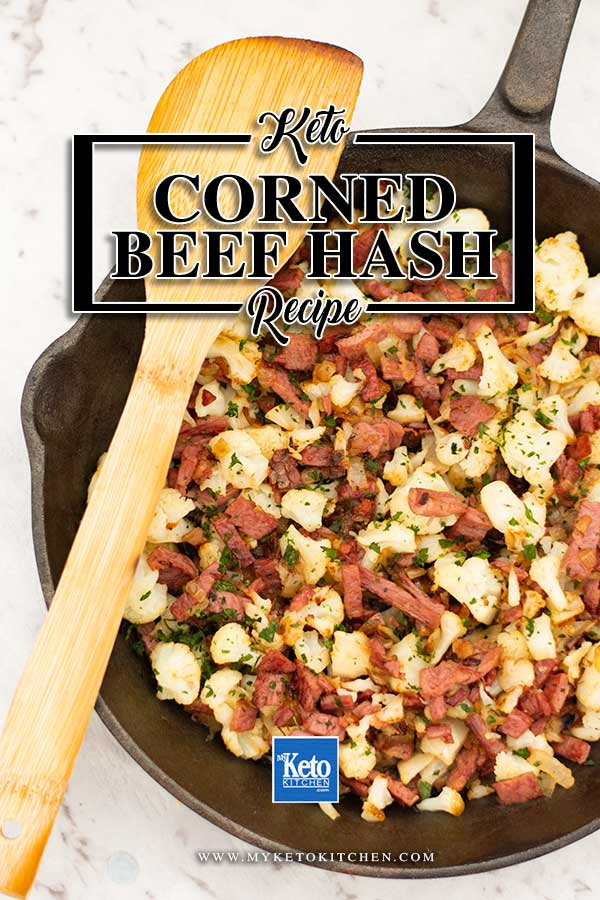 Low Carb Corned Beef Breakfast Hash - easy keto breakfast recipe
