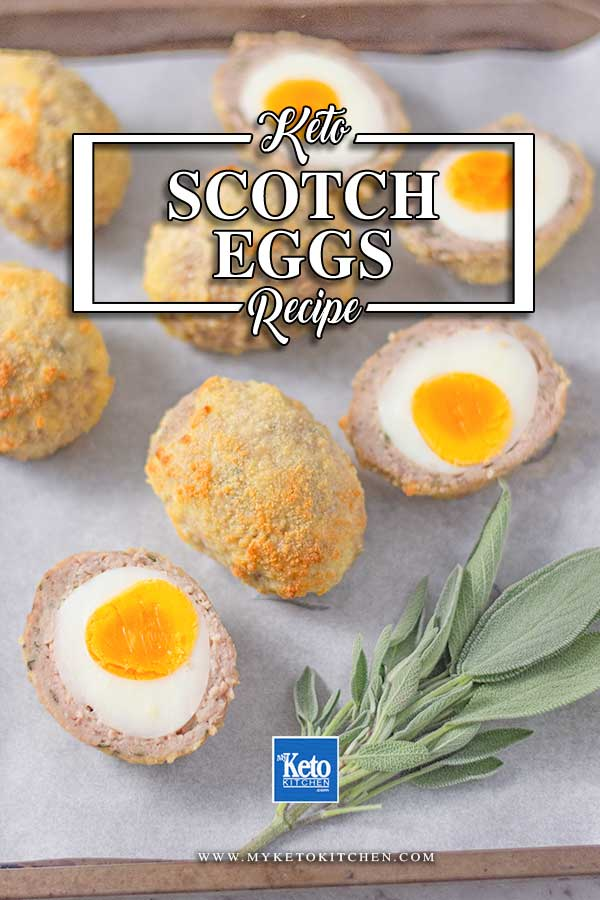 Low Carb Scotch Eggs - delicious sausage wrapped egg recipe