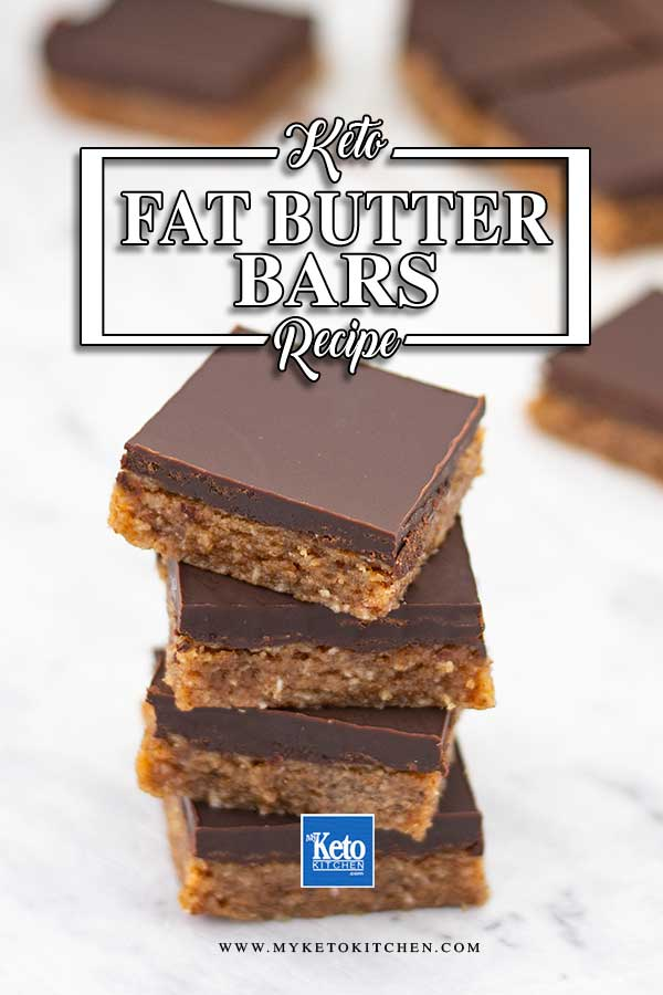 No Bake Keto Almond Butter Bars - easy no bake snack recipe