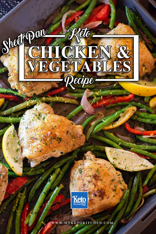 Sheet Pan Chicken and Vegetables - easy keto recipe