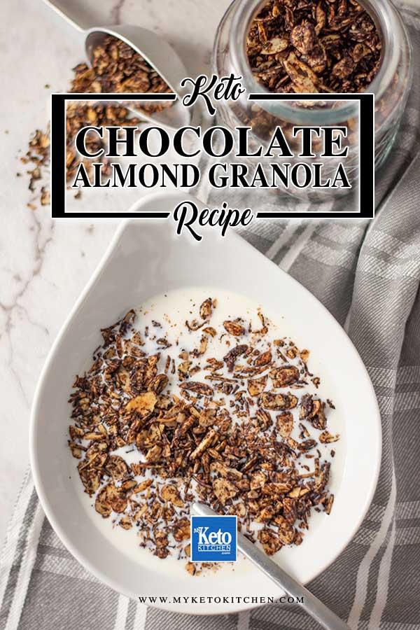 Sugar-Free Chocolate Almond Granola - easy breakfast cereal recipe