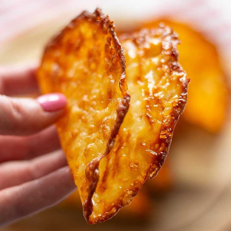 How to make Keto Cheese Taco Shells - super easy 1 ingredient recipe