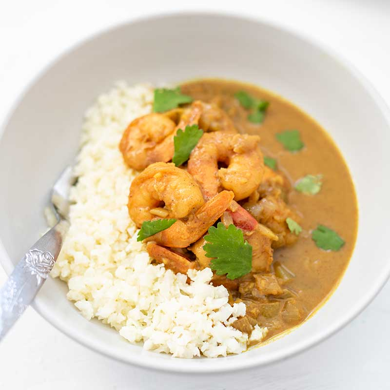 How to make Keto Creamy Shrimp Curry - easy dinner recipe
