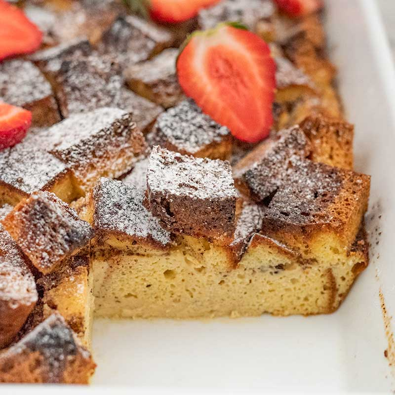 How to make Keto French Toast Casserole - easy sugar-free breakfast recipe