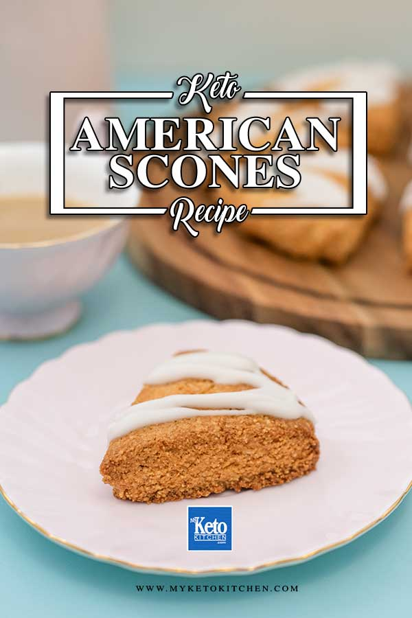 Keto American Scones - easy sugar free recipe