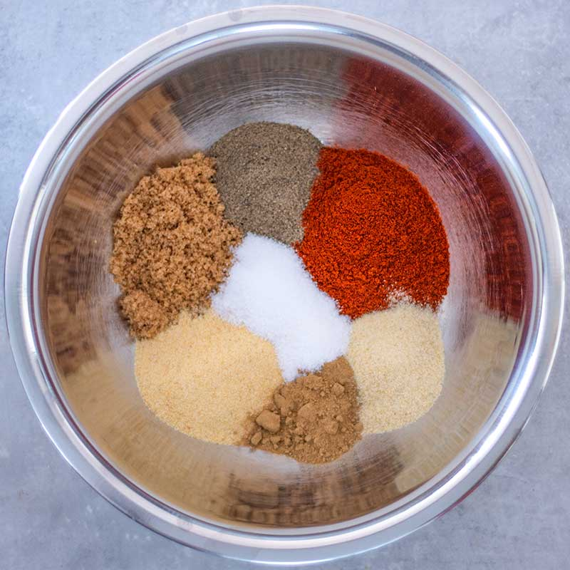 Keto BBQ Dry Rub Ingredients - simple spice mix recipe
