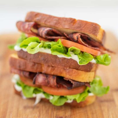 Keto BLT Sandwich – With Crispy Bacon & Low Carb Bread