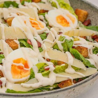 Keto Caesar Salad Recipe With Low Carb Croutons
