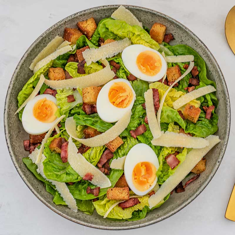 Keto Caesar Salad Ingredients - easy lunch recipe
