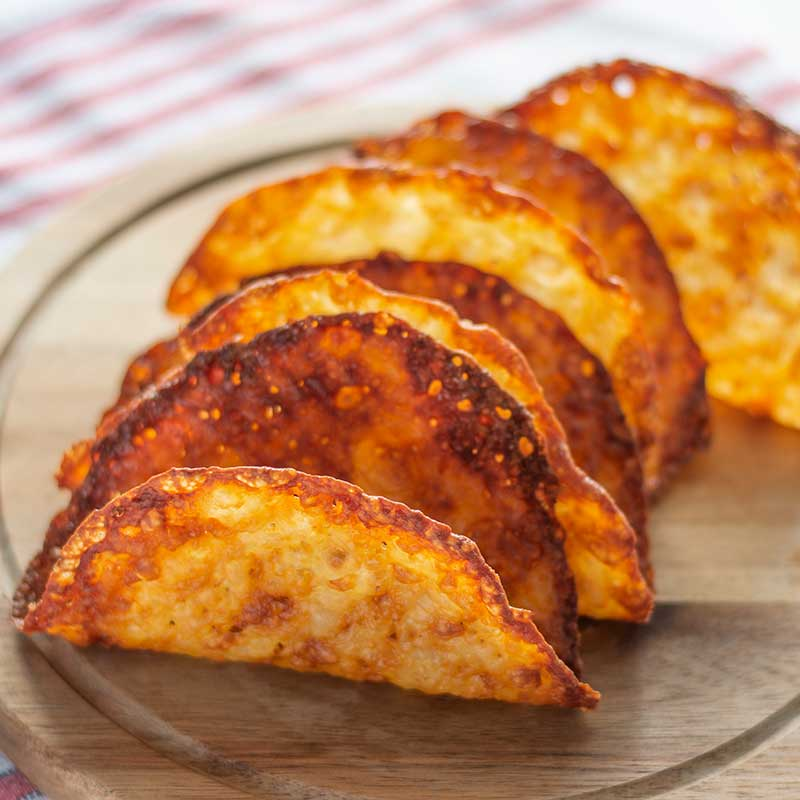 Keto Cheese Taco Shells - super easy 1 ingredient recipe
