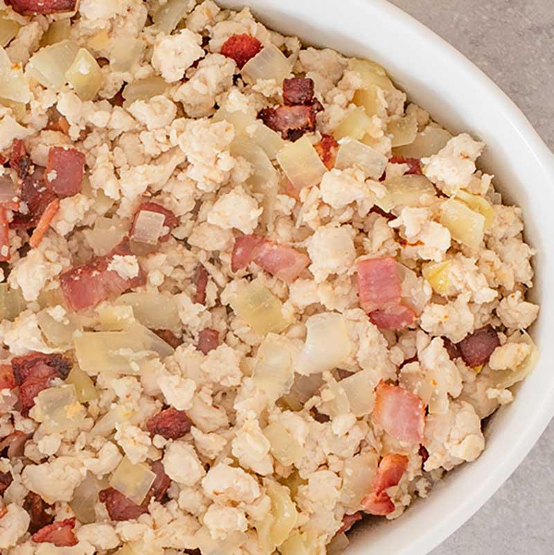 Keto Chicken & Bacon Casserole Ingredients - easy recipe