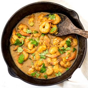 Keto Creamy Shrimp Curry - easy dinner recipe