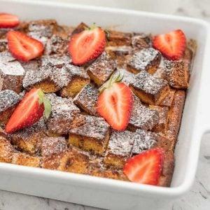 Keto French Toast Casserole - easy sugar-free breakfast recipe