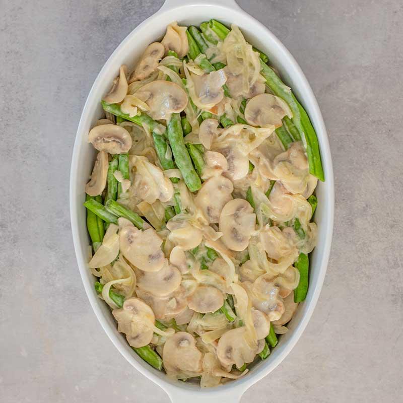 Keto Green Bean Casserole Ingredients - easy side dish recipe